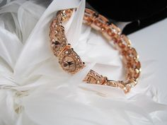 Wedding Bracelet Gold Tone Silver Tone Rhinestone Bracelet