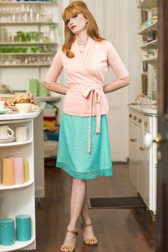 Spearmint skirt green color from the Spring Collection by Shabby Apple