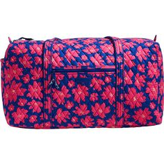 Vera Bradley Large Duffel 2.0 ($85) ❤ liked on Polyvore featuring bags, luggage and pink