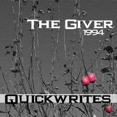 THE GIVER Journal - Quickwrite Writing Prompts - PowerPoint product from CreatedForLearning on TeachersNotebook.com