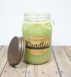 Coconut Lime Scented 16 oz Jar Candle by FisherCreekCandles, $11.00