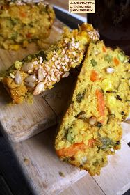 Jagruti's Cooking Odyssey: Oats and Multiseed Savoury Loaf - Oats Handvo Oats Recipes, Veg Recipes, Indian Food Recipes, Vegetarian Recipes, Snack Recipes, Cooking Recipes, Kebab Recipes, Cooking Tips, Recipies