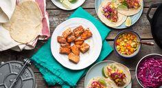 Sriracha Salmon Tacos With Mango Salsa Recipe