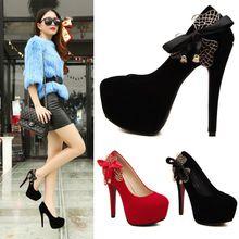 Giày cao gót mũi tròn, phối nơ điệu đà, thời trang nổi bật