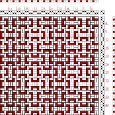 Hand Weaving Draft: Figure 1742, A Handbook of Weaves by G. H. Oelsner, 2S, 2T - Handweaving.net Hand Weaving and Draft Archive