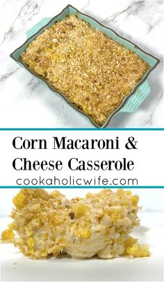 Macaroni and cheese gets a new take with the addition of corn mixed throughout.