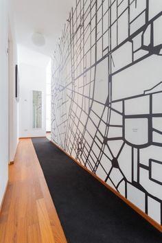 B&B MILANO - MAP - WALLPAPER | cristina meschi architetto
