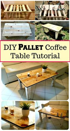 DIY Pallet Coffee Table Tutorial - DIY & Crafts