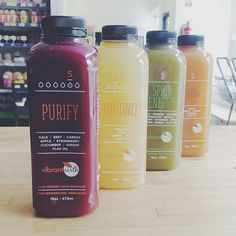 New #local cold pressed juices from @vibrantearthjuices! #vegan #healthy (at NOOCH / 10 E. Ellsworth Ave)