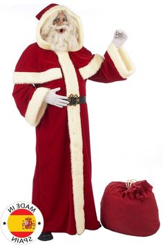 Weihnachtsmann Kostüm Verkleidung Santa Claus Nikolauskostüm Bar Show Kostüm Neu