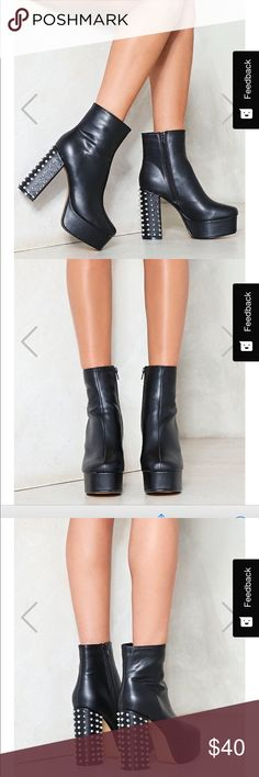 Nasty Gal Stud Booties Never Worn Booties Nasty Gal Shoes Ankle Boots & Booties