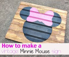 Create a Minnie Mouse sign in 10 simple steps!