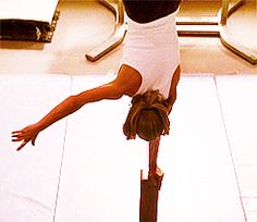 The part when Buffy does a one arm handstand it really makes wanna learn to do it!
