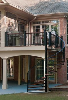 Image result for exterior stairs with easy curve