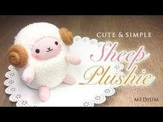 The Perfect Sheep Plush Tutorial - Budget Crafting with Amazing Results! - YouTube