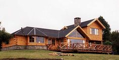Cabin Homes, Log Homes, Porch Decorating, My Dream Home, My House, Building A House, House Plans, Sweet Home, House Design