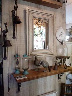 Estante patinado con ménsulas de hierro Cabinet, Storage, Furniture, Ideas, Home Decor, House Decorations, Home Deco, Hall, Little Cottages