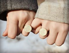 Best friend rings BFF ring Friendship rings by starlightwoods