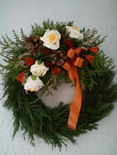Christmas Wreaths, Xmas, Funeral Flowers, Grapevine Wreath, Grape Vines, Floral Wreath, November, Ikebana, Holiday Decor
