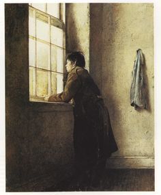 His lighting is so fabulous.  LOVE! by Andrew Wyeth