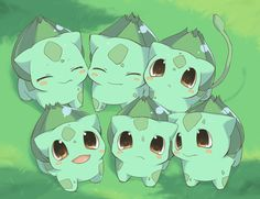 Six Bulbasaurs. Don't forget to like this Pokemon Facebook page for more cool Pokemon content: http://www.facebook.com/shinydragonairx