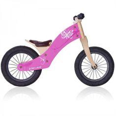"""Deze houten loopfiets Air 12,5"""" Vlinder van het merk Rebel Kidz is licht van gewicht, eenvoudig te bedienen en voorzien van een verstelbare stoel en stuur. Op deze manier kan de fiets gemakkelijk """"meegroeien"""" met uw kind. De fietsen hebben een stijlvolle en natuurlijke houten uitstraling. Dit in combinatie met de unieke grafische vormgeving, prints en perfecte kwaliteit van de constructie maakt deze houten loopfiets een uitstekende keus. Leeftijd 2 +"""