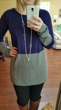 41Hawthorn Darci pullover I love the way this looks! Love the sweater in these colors