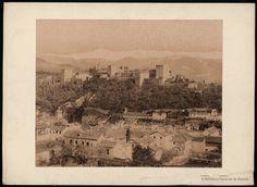 Vista general de la Alhambra y Sierra Nevada. Garzón, Rafael 1863-1923 — Fotografía — 1890?