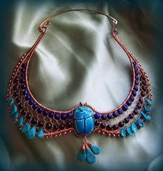 Egyptian collar.....when history and jewelry collide!