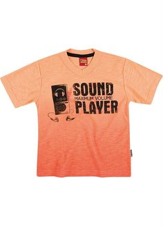 Camiseta Infantil Menino Kyly Laranja - Posthaus