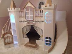 NEW CUSTOM PRINCESS CATARINA CASTLE LOFT BED #CAROLINADREAMSCUSTOMDESIGNS