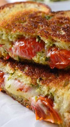 Roasted Tomato, Pesto & Smoked Provolone Grilled Cheese