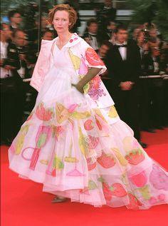 Tilda Swinton, Cannes, le 20 mai 2001.