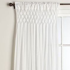 Smocked White Curtain From World Market