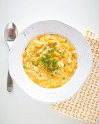 Butternut squash Risotto with Goat's milk Gouda - Bite-sized cubes of butternut squash lend a pleasing sweetness and texture to risotto, while goat's milk Gouda offers a creamy alternative to Parmesan.