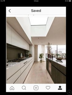 Different coloured cabinetry