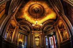 Photo: Trey Ratclliff: The Mysterious Places of Paris....Isn't this room amazing? It's not in the main part of the Paris Opera House, but it had the most ornate and Inception-esque room I've seen in a while. I took this photo while in the middle of experimenting with the Nikon fisheye lens. It seemed to fit the bill for these ornate grand locations that are still in a relatively confined space.