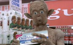 Mac and Me (1988) Clear blue, Brawny paper towels and Coke. LOL! LMAO!