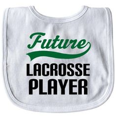Inktastic Future Lacrosse Player Baby Bib Sports Occupations Occupation Job Kids Jobs Gift Clothing Infant Hws, White