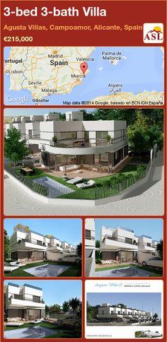 3-bed 3-bath Villa in Agusta Villas, Campoamor, Alicante, Spain ►€215,000 #PropertyForSaleInSpain
