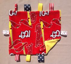 Cool St. Louis Cardinal baby security blanket!
