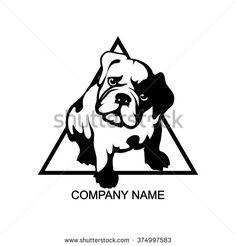 angry french bulldog logo - Google Search