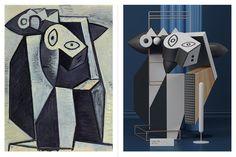 Cet artiste redonne vie aux oeuvres de Picasso en les reproduisant sous la forme de... sculptures 3D (drôlement réussies)