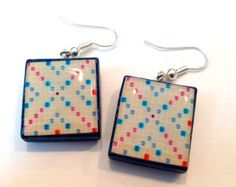 Scrabble Board Scrabble Tile Earrings