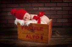 Chunky Red Beanie NEWBORN Boy baby boy newborn by HuggabeansCrafts