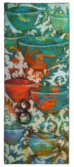 Judy Coates Perez: 8 of cups - art quilt - worth reading her whole process