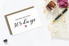 First Anniversary Card 1 Year Anniversary For Boyfriend