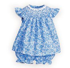 Royal blue smocked christmas dress
