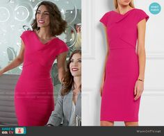 Delia's pink sheath dress on Girlfriends Guide to Divorce. Outfit Details: https://wornontv.net/64481/ #GG2D