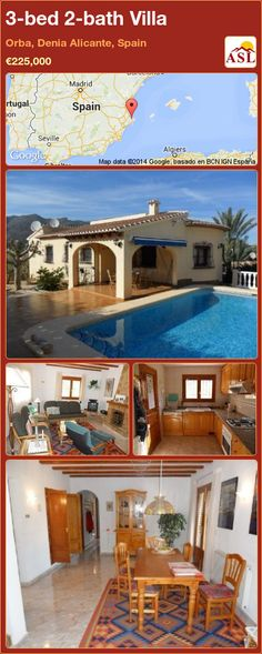 3-bed 2-bath Villa in Orba, Denia   Alicante, Spain ►€225,000 #PropertyForSaleInSpain
